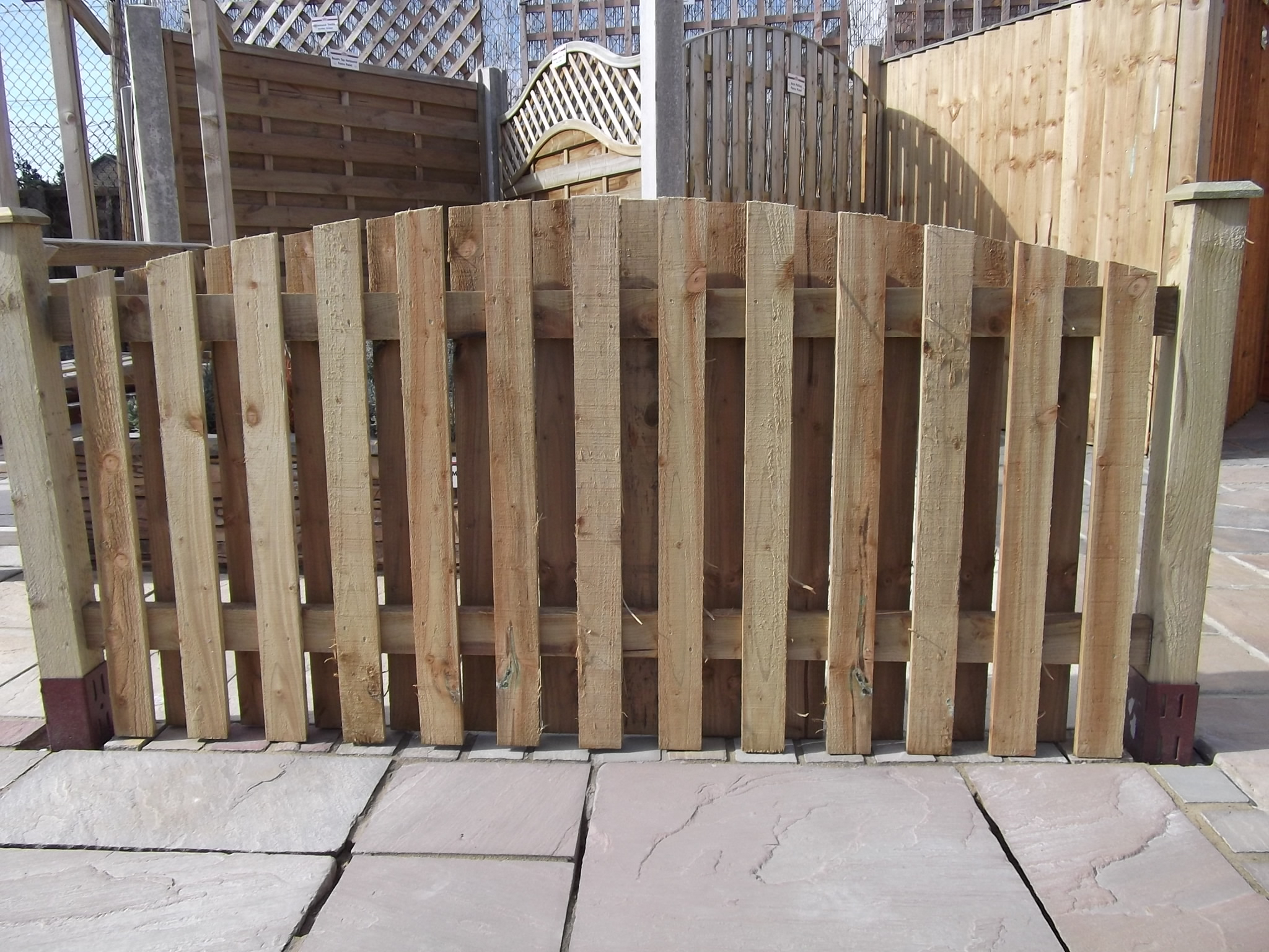 Paling Arched Top Double Sided Fence Panel