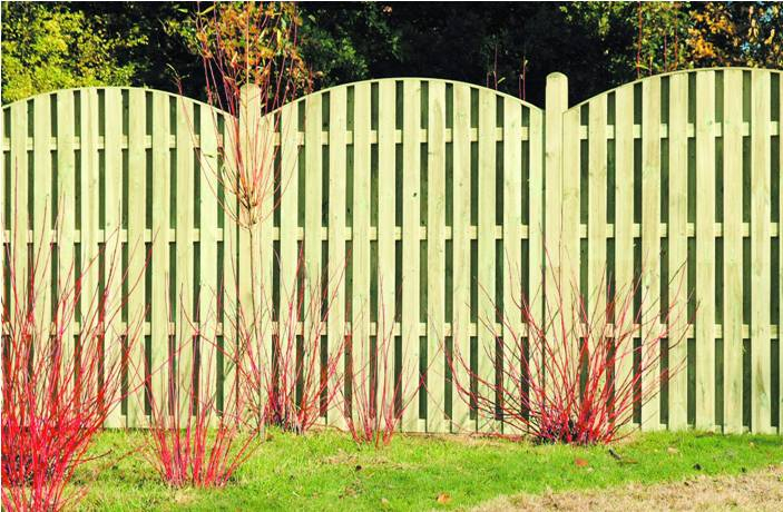 Double Sided Arch Pailing Fence Panel